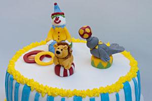 Sirkuskakku 3-vuotiaalle